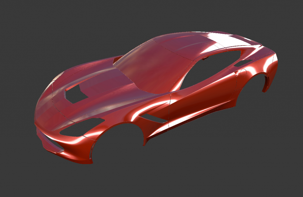 Corvette in Blender